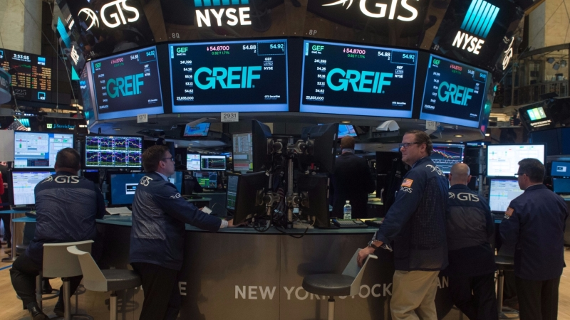 圖:AFP  美國股市週五大多收高