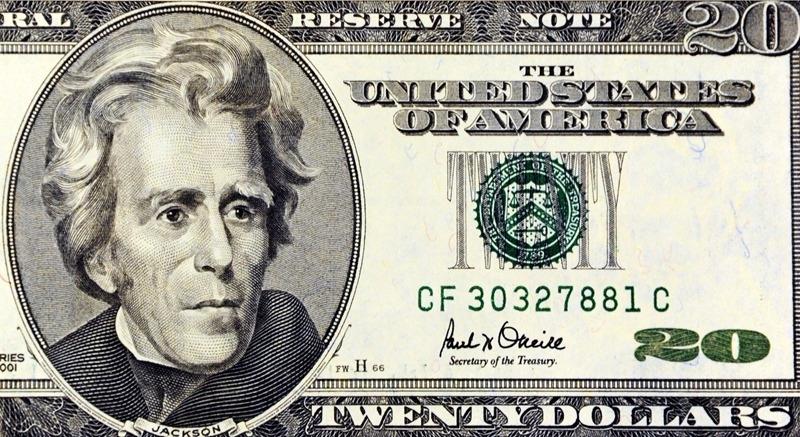 20美元圖案 / 圖片來源:afp