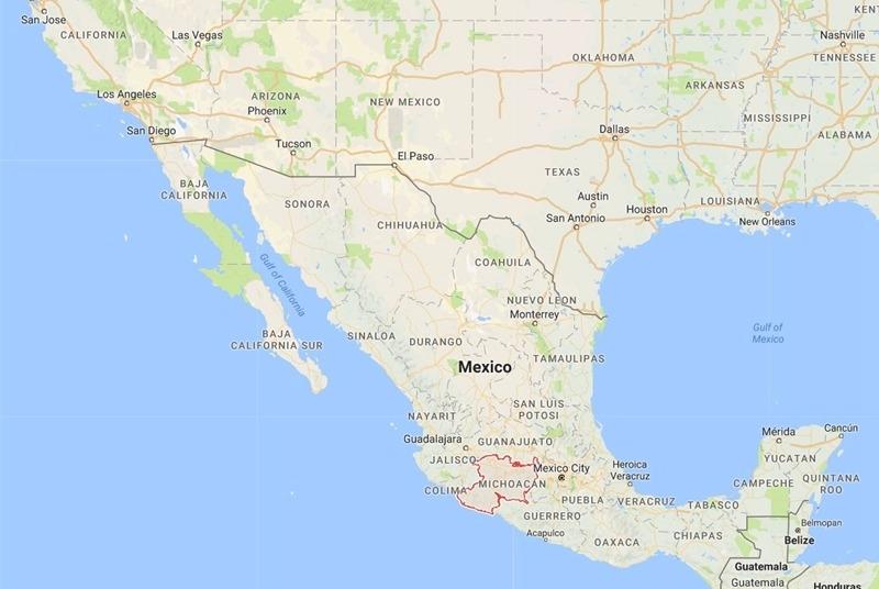 墨西哥地圖 / 圖片來源:Google