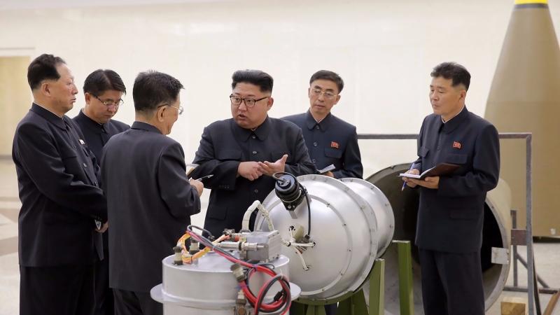 北韓領導視察工作 / 圖片來源:afp