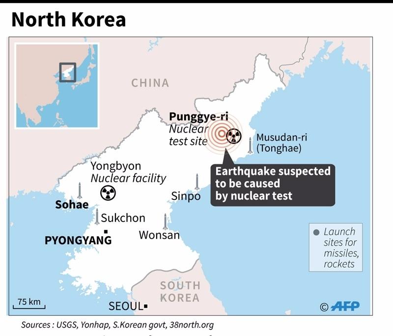 北韓核武測試 / 圖片來源:afp