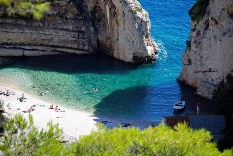 克羅埃西亞的Stiniva海灘。(圖取材自網路)