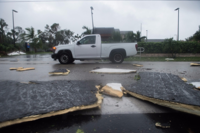 艾瑪颶風肆虐美國佛州。(AFP)
