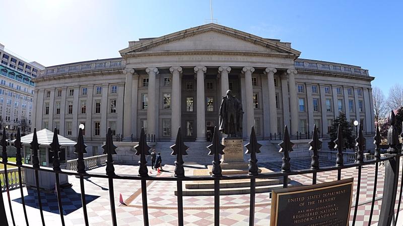 圖:AFP  美國財政部大樓