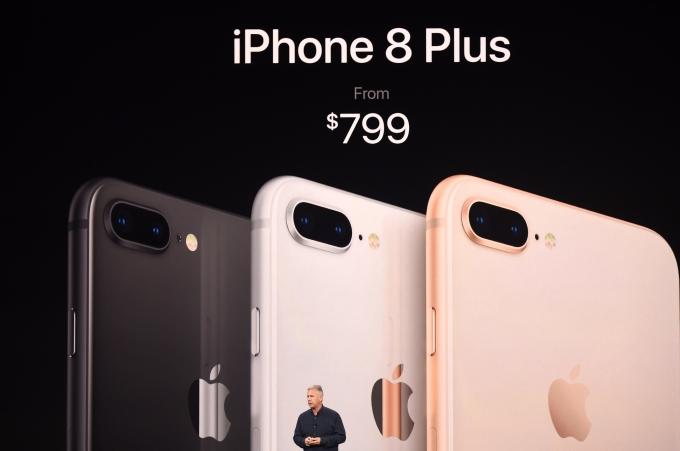 蘋果 12 日舉行新品發表會,揭曉全新 iPhone 8 Plus 。(AFP)