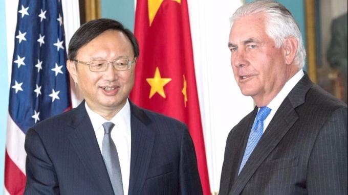 楊潔篪晤蒂勒森時透露,川普將於年底首次對中國進行國事訪問。 (圖:AFP)