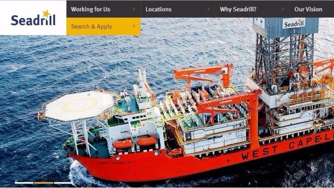 Seadrill網站 (網頁擷圖)
