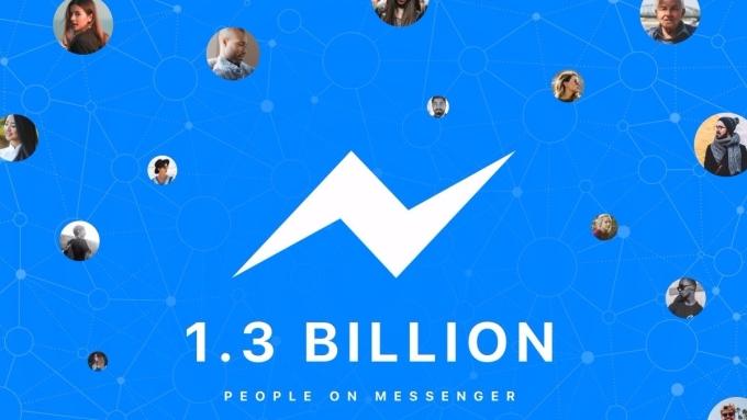 臉書通訊產品副總 David Marcus 於推特發文,表示 Messenger 每月用戶已突破 13 億人。(圖片來源:@davidmarcus)