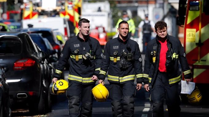 圖:AFP  倫敦地鐵發生恐怖攻擊事件