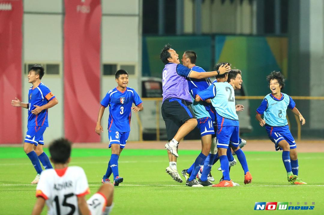 ▲中華隊傷停時進球,拿下資格賽首勝。(圖/中華民國足球協會提供)