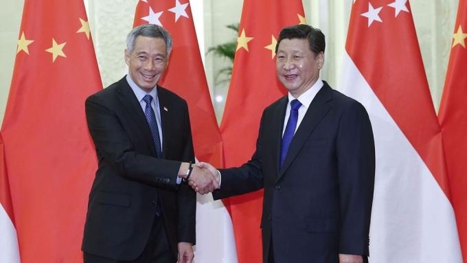 李顯龍在中共十九大前訪華,此舉被外界認為是修補中新兩國關係的信號。 圖片來源:香港01