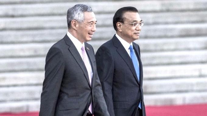 新加坡總理昨抵達北京,對中國進行為期3天的國事訪問。 (圖:AFP)