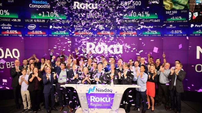 Roku 昨天IPO      (圖取自Nasdaq)
