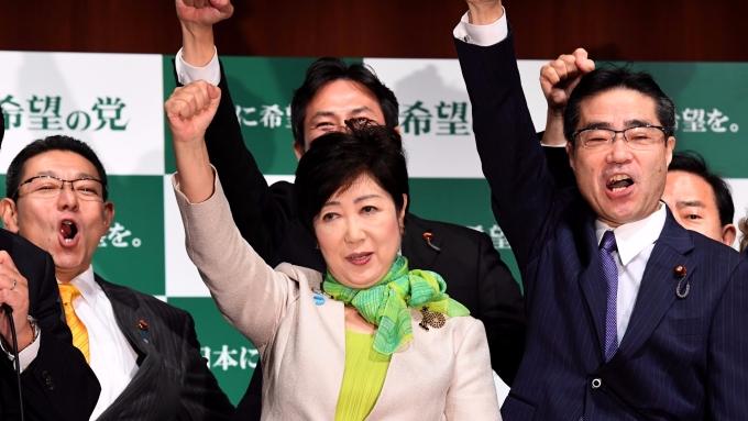 日本「希望之黨」領袖小池百合子。(AFP)