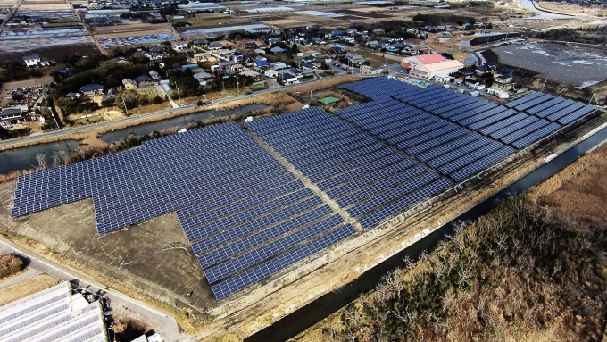 國內太陽能廠積極拓展電廠佈局,圖為國碩於日本興建的電廠。(圖:國碩提供)