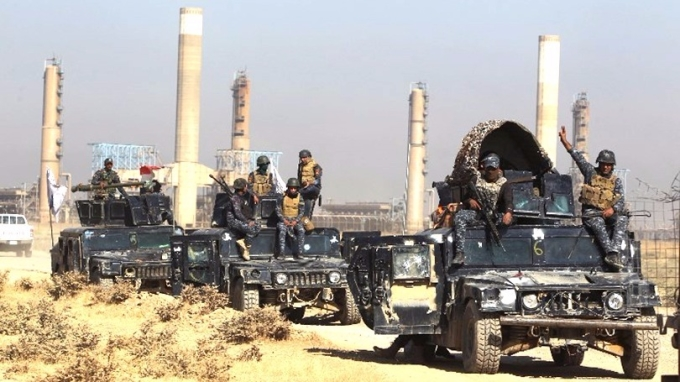 伊拉克政府軍奪回基爾庫克省大片地區,包括多塊油田、煉油廠及主要軍事基地。  (圖:AFP)
