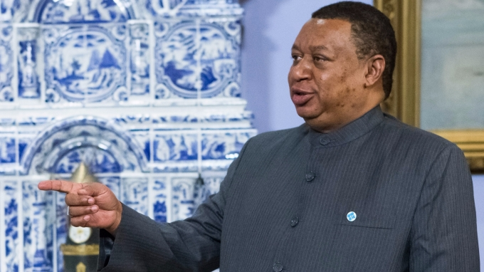 OPEC 秘書長巴爾金都。(AFP)