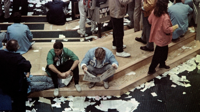 1987年10月19日美國股災。(圖:AFP)