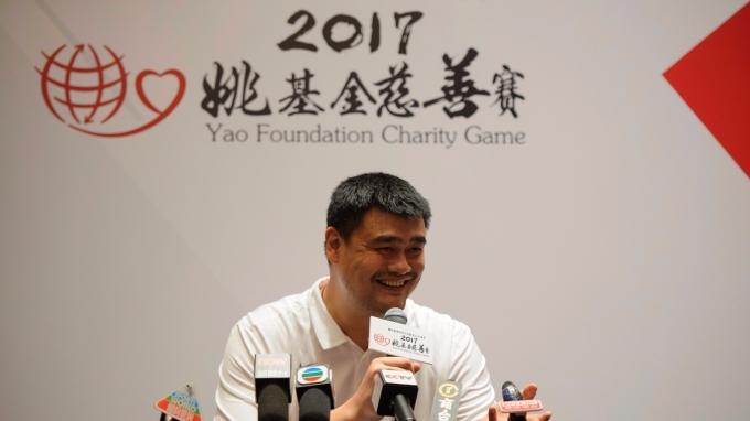 中國籃球名將姚明。(圖:AFP)