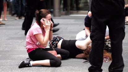 紐約受恐攻,數十人傷亡,川普嚴厲斥責恐佈份子及伊斯蘭國。(AFP)