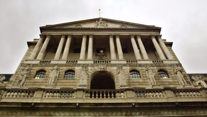圖:AFP 英國央行大樓