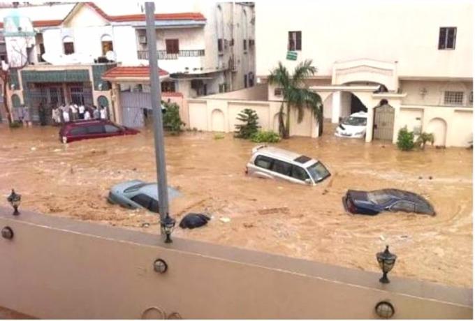 2009 年的吉達洪災。 (圖取材自網路)