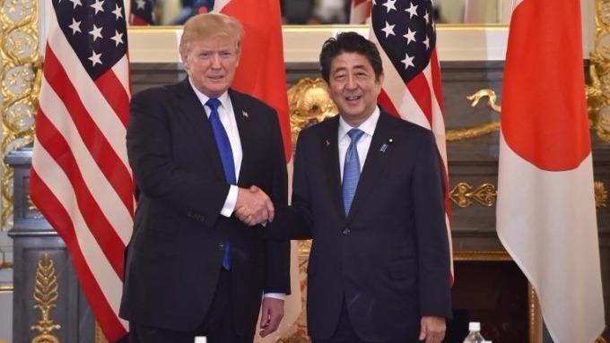 美國總統川普與日本首相安倍晉三 (圖:AFP)