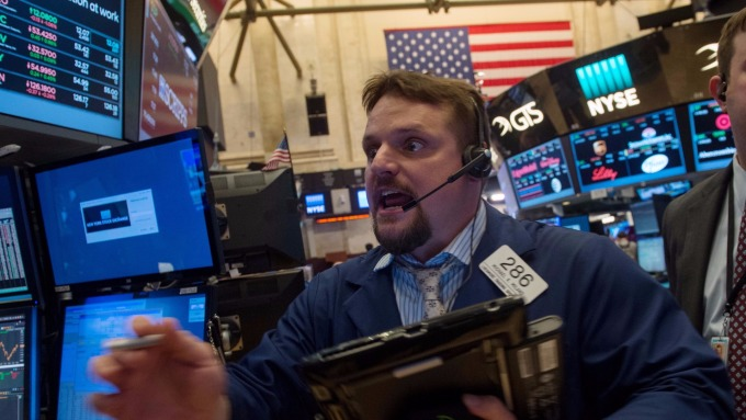 圖:AFP  美國股市中場創新記錄高點
