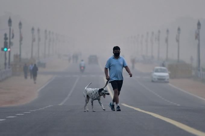 新德里空氣不佳 / 圖:彭博