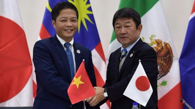 TPP越南和日本代表 (圖:AFP)