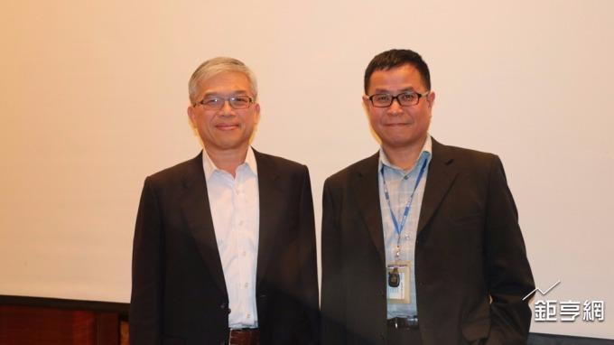 貿聯-KY董事長梁華哲(左)與總經理鄧劍華。(鉅亨網資料照)