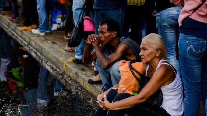 圖:AFP  委內瑞拉百業蕭條 民眾生活困苦