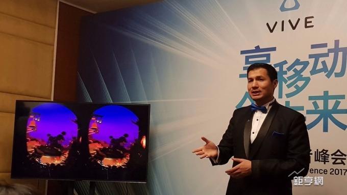 HTC Vive中國區總經理汪叢青強調VR將有新一波大浪。(鉅亨網記者楊伶雯攝)