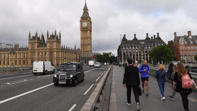 倫敦西敏橋。(AFP)