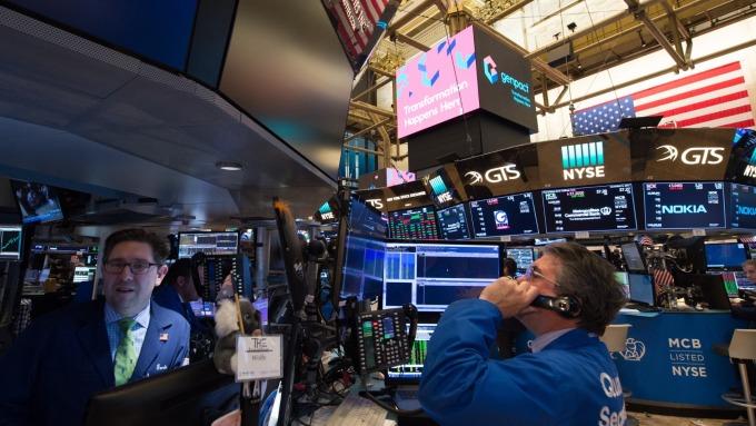 圖:AFP  美國股市中場下跌 但縮小跌幅