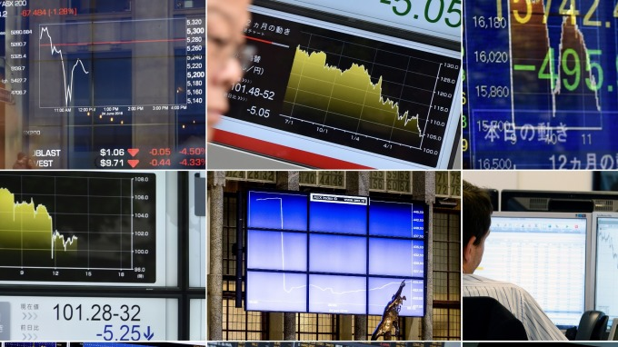 圖:AFP 歐洲股市週二下跌