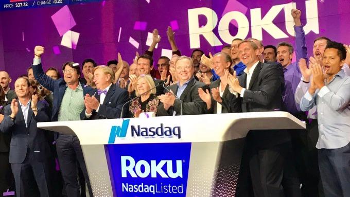 Roku 今年 9 月掛牌上市。圖片截自《CNBC》