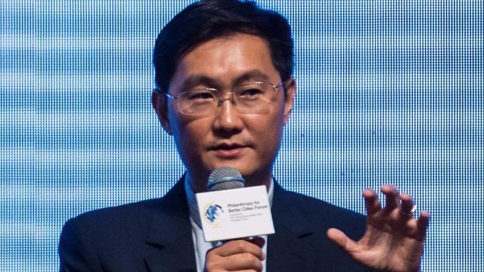 圖:AFP  騰訊執行長馬化騰