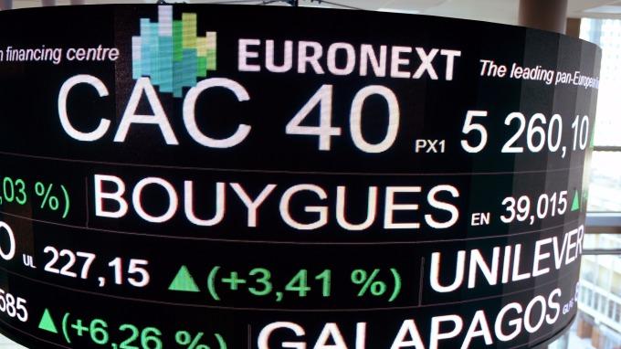 圖:AFP 華爾街上漲 支撑歐洲股市週一收高