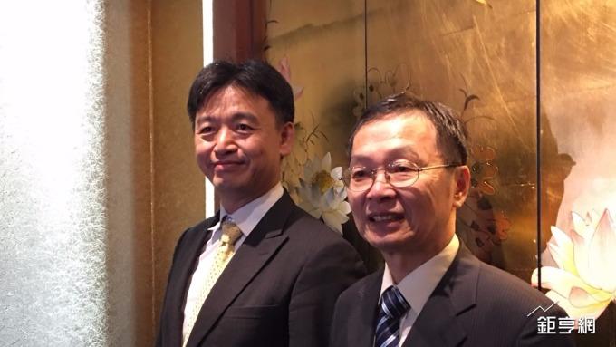 碩禾總經理黃文瑞(左)與董事長陳繼明。(鉅亨網資料照)