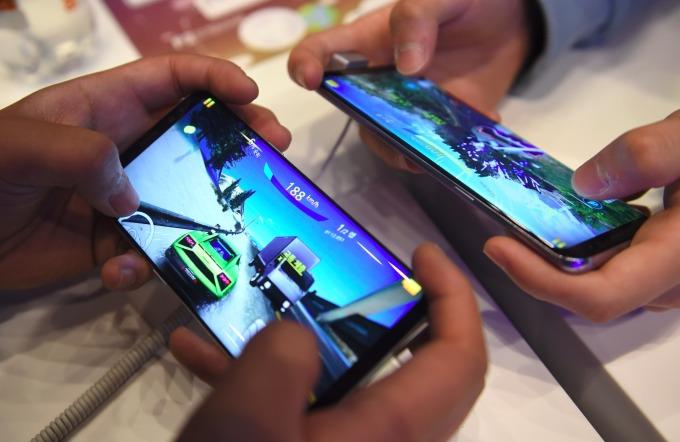 三星 Galaxy S8 。(AFP)