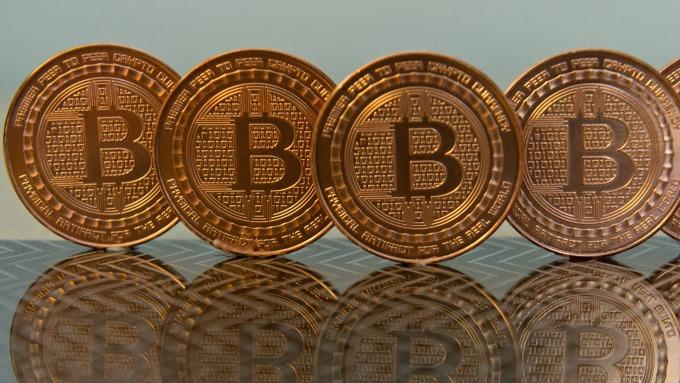 圖:AFP  比特幣貨幣