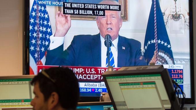 圖:AFP  若稅改通過 美國股市可望上漲5%