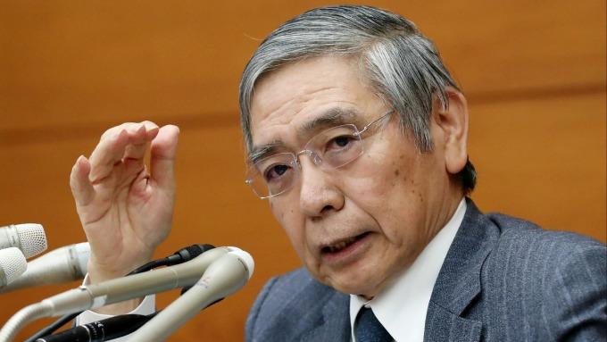 日本央行總裁黑田東彥 圖片來源:afp