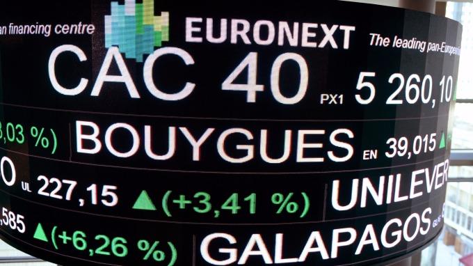 圖:AFP  歐洲股市週一收高 投資人反應美國參院通過稅改法案