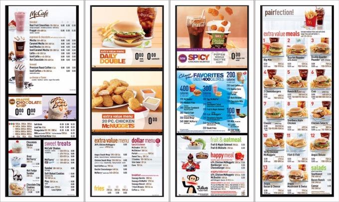 麥當勞菜單 / 圖:Flickr