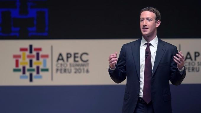 Facebook執行長Mark Zuckerberg於今年APEC會議 (圖:AFP)