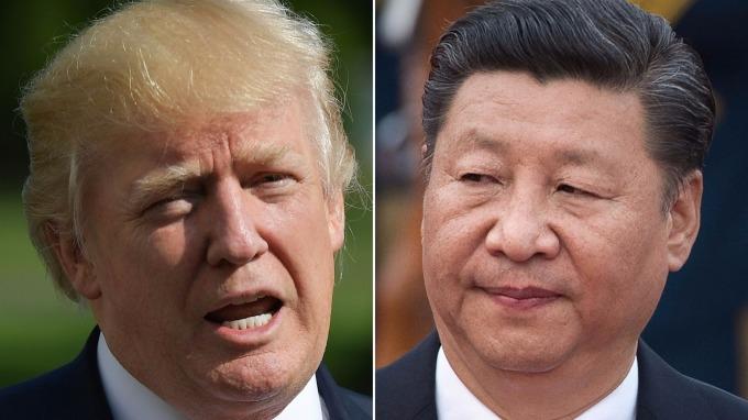 美國總統川普(左)、中國國家主席習近平(右)。(圖:AFP)