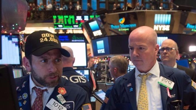 圖:AFP  美國股市週二收低 科技股上漲 未能拉抬大盤