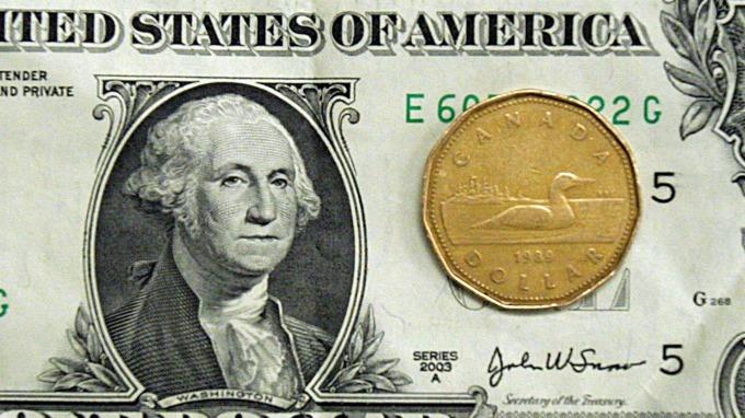 圖:AFP 美元兌加元週三上漲
